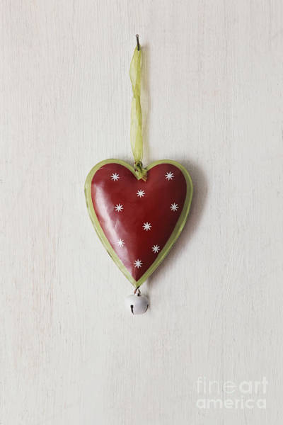 Wall Art - Photograph - Tin Heart Hanging On Wood by Sandra Cunningham