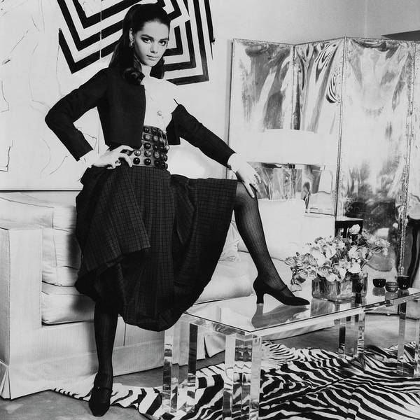 Furniture Photograph - Tina Aumont In A Living Room by Henry Clarke