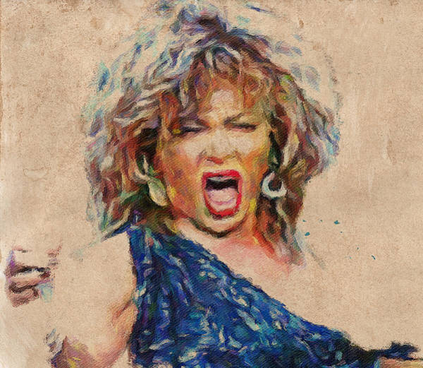 Voices Digital Art - Tina Turner Portrait You Are The Best 1 by Yury Malkov