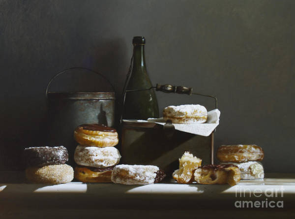 Doughnut Painting - Tins And Donuts by Lawrence Preston