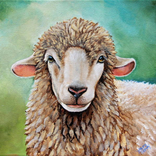 Ram Painting - Tinsel by Laura Carey