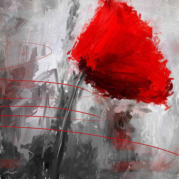 Blooms Digital Art - Tint Of Red by Lourry Legarde