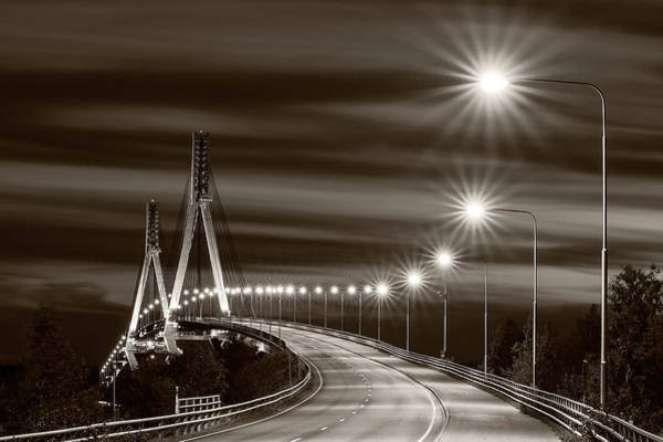 Highway Photograph - Tinted Bridge by Harri Aho