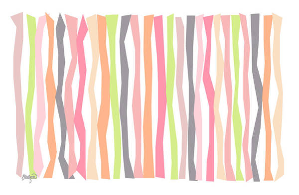 Vertical Line Digital Art - Citrus Color Sticks by Patricia Lintner