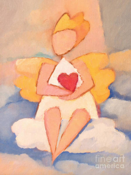 Painting - Tiny Angel by Lutz Baar