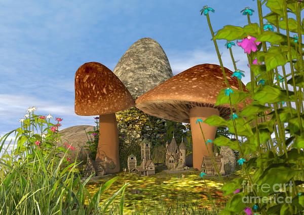 Tiny Fairy Village Art Print