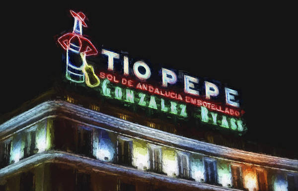 Wall Art - Photograph - Tio Pepe Sign Madrid by Joan Carroll