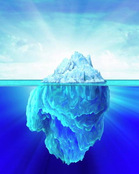 Above And Below Wall Art - Photograph - Tip Of An Iceberg by Leonello Calvetti