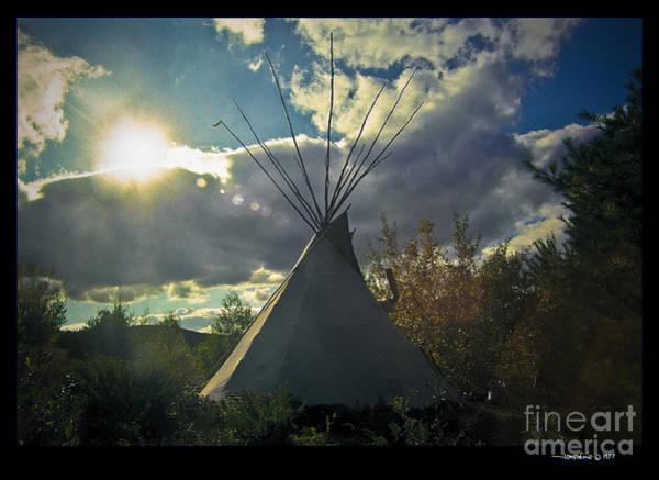 Tipi Morning Color Art Print