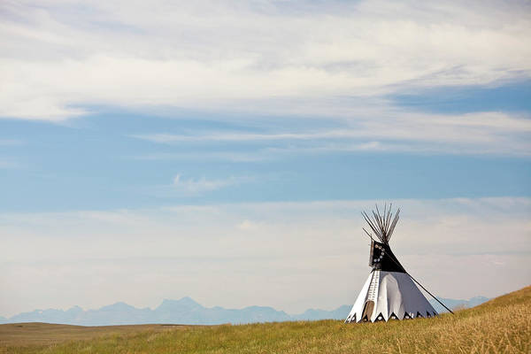 Indigenous People Photograph - Tipi On The Great Plains by Imaginegolf