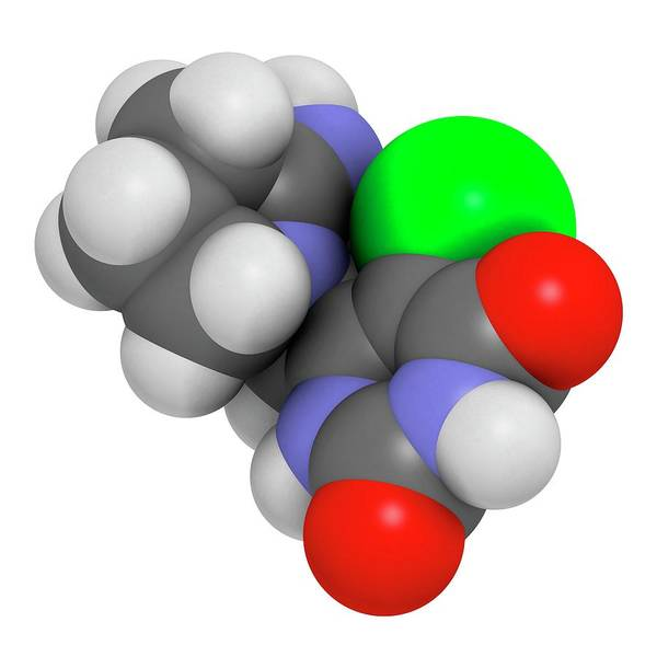 Molecular Wall Art - Photograph - Tipiracil Cancer Drug Molecule by Molekuul/science Photo Library