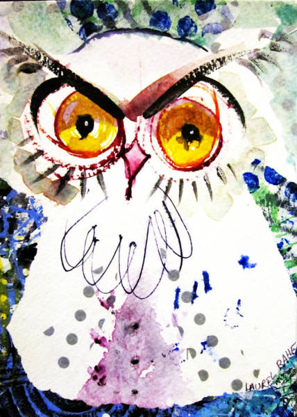 Painting - Tipsy Owl by Laurel Bahe