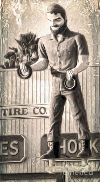 Painting - Tire Giant by Gregory Dyer
