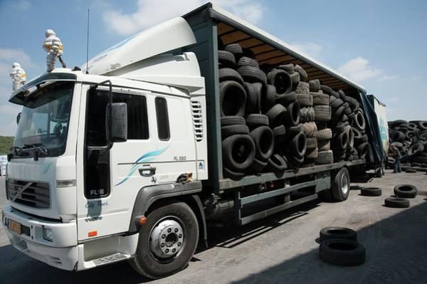 Tire Recycling Art Print