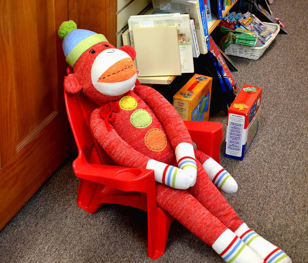 Sock Monkey Photograph - Tired Red Sock Monkey by Jeffrey Platt