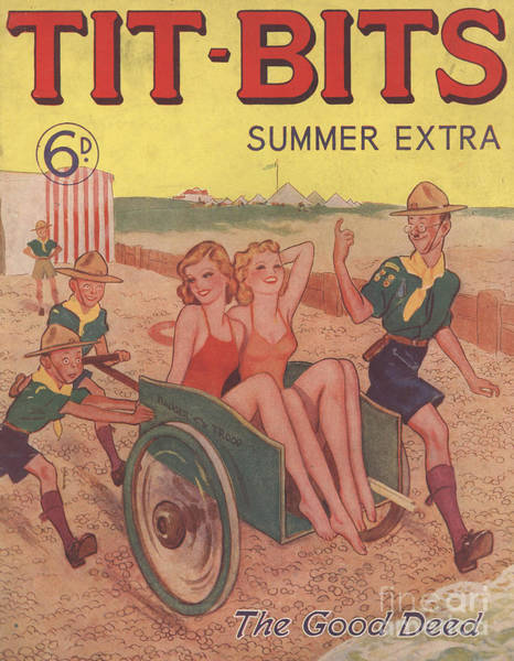 Nineteen-thirties Wall Art - Drawing - Tit-bits 1930s Uk Boy Scouts Holidays by The Advertising Archives