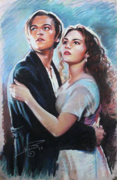 Shipwreck Drawing - Titanic Jack And Rose by Viola El