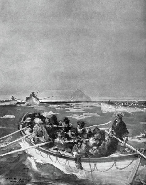 Drawing - Titanic Lifeboat, 1912 by Granger