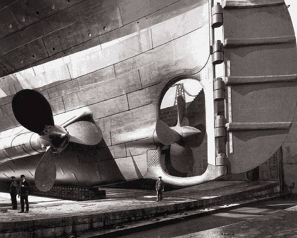 Prop Digital Art - Titanic Rudder And Props  1911 by Daniel Hagerman