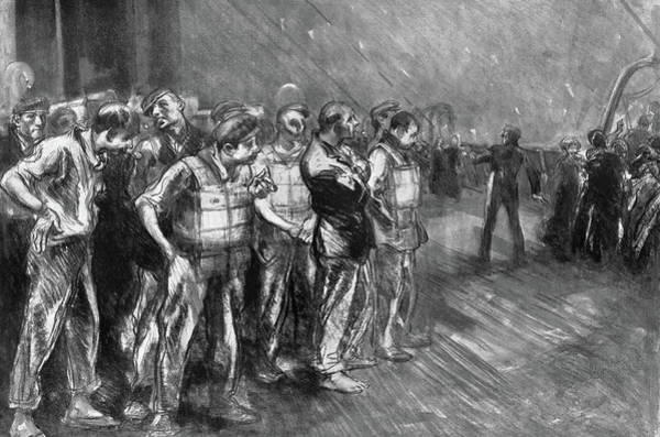 Drawing - Titanic Stokers, 1912 by Granger