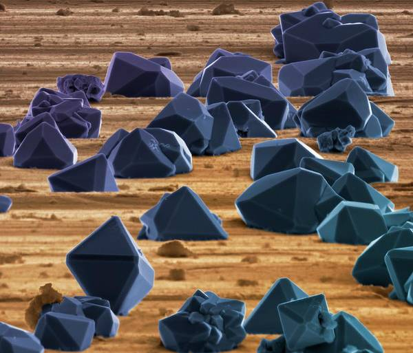 False Wall Art - Photograph - Titanium Microcrystals by Science Photo Library