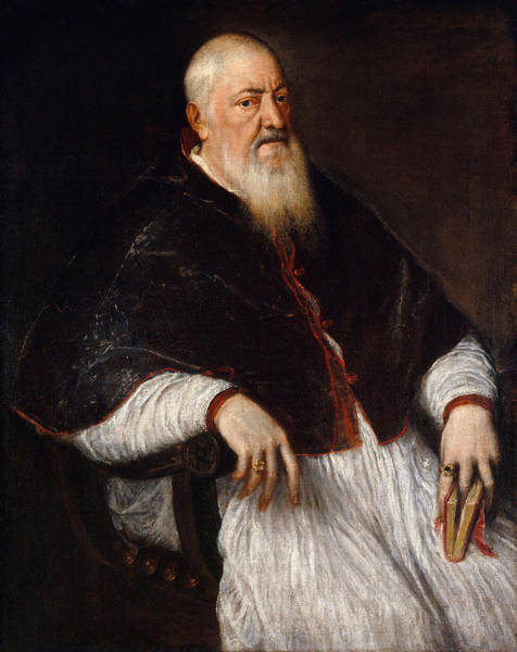 Wall Art - Painting - Titian Filippo Archinto, C1555 by Granger