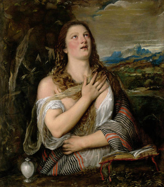 Wall Art - Painting - Titian Mary Magdalene, C1565 by Granger