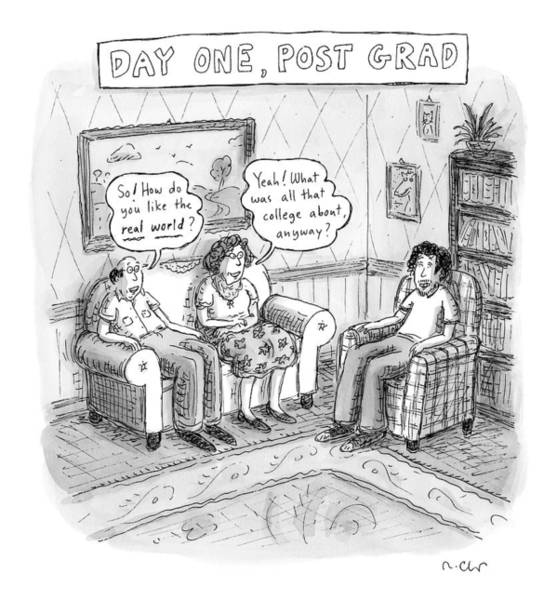May 30th Drawing - Title Day One by Roz Chast