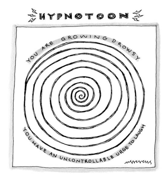 Laughter Drawing - Title: Hypnotoon A Picture Of A Large Swirl - by Mick Stevens