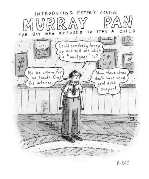 Support Drawing - Title: Introducing Peter's Cousin by Roz Chast