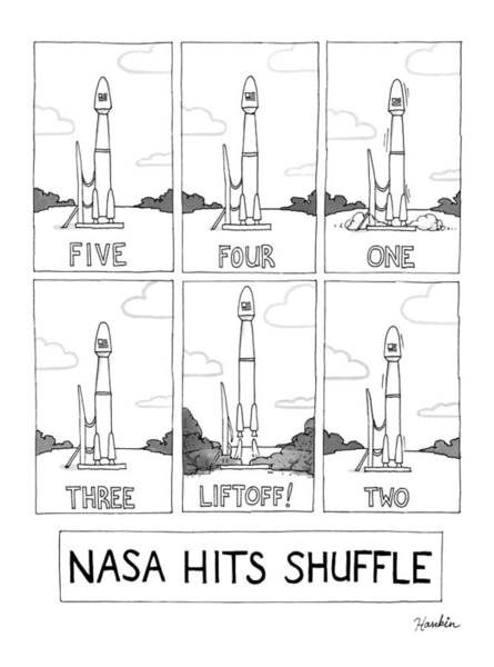 Drawing - Nasa Hits Shuffle by Charlie Hankin