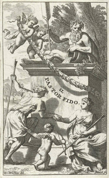 Herd Drawing - Title Page For U.k by Abraham Bloteling And Zacharias Webber Ii And Pierre Marteau