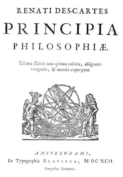 Title Page Wall Art - Photograph - Title Page Of Descartes' Principia by Royal Astronomical Society/science Photo Library