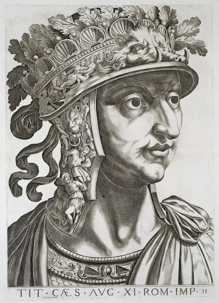 Soldier Drawing - Titus Caesar , 1596 by Italian School