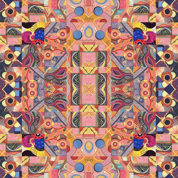 Painting - The Joy Of Design Mandala Series Puzzle 4 Arrangement 7 by Helena Tiainen