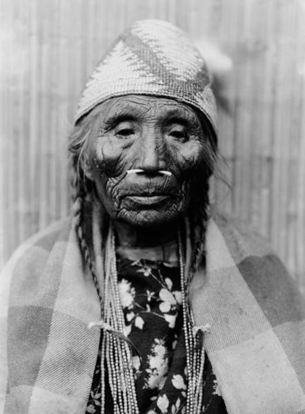 Wall Art - Photograph - Tlakluit Indian Woman Circa 1910 by Aged Pixel