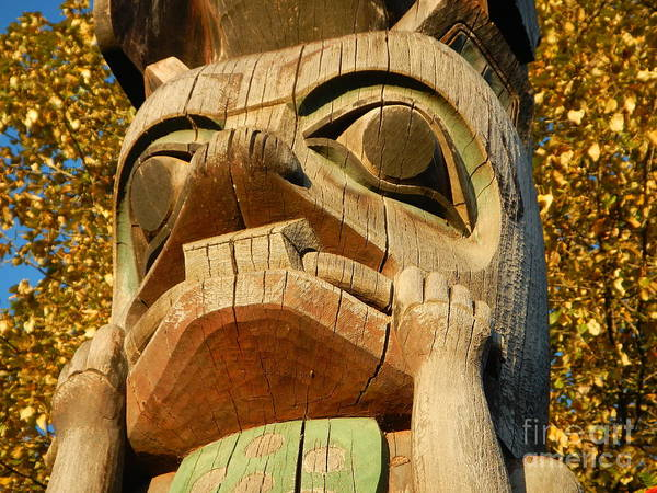 Photograph - Tlingit Totem by Laura  Wong-Rose