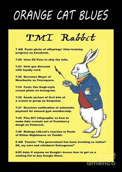 Digital Art - Tmi Rabbit by Pet Serrano