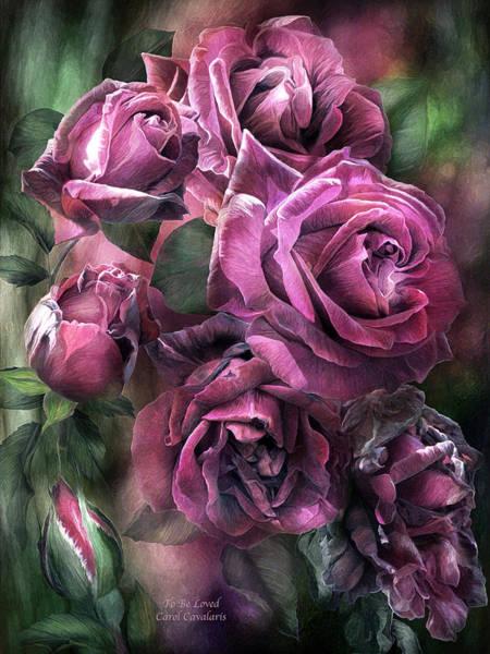Mixed Media - To Be Loved - Mauve Rose by Carol Cavalaris