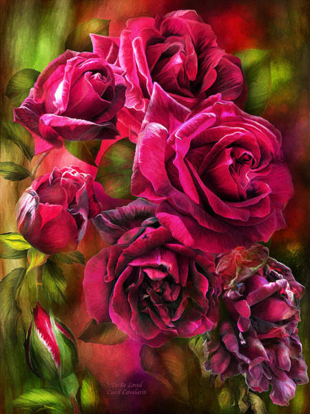 Romantic Flower Mixed Media - To Be Loved - Red Rose by Carol Cavalaris