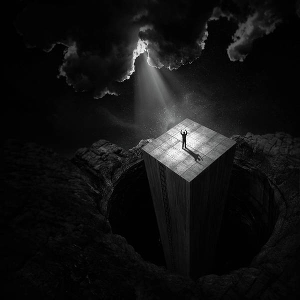 Cube Wall Art - Photograph - To Escape The Void by Martin Cekada