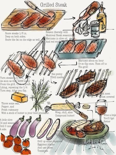 Digital Art - To Grill A Steak by Lisa Owen-Lynch