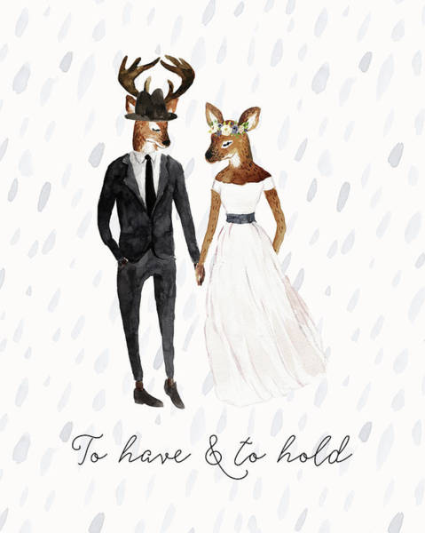 Wedding Painting - To Have And To Hold by Tara Moss