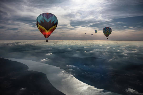 Air Balloon Wall Art - Photograph - To Kiss The Sky by Heather Bonadio