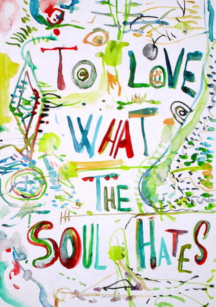 Wall Art - Painting - To Love What The Soul Hates by Fabrizio Cassetta