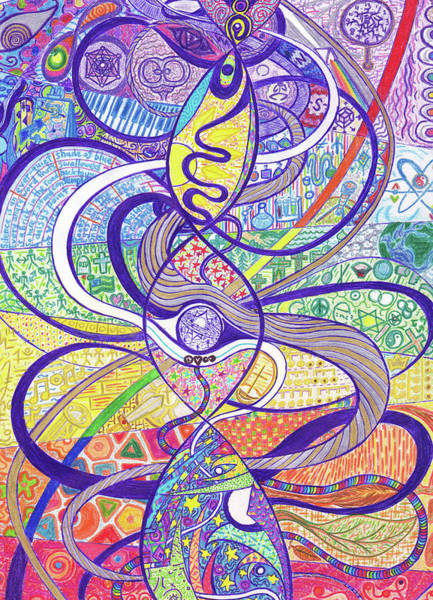 Zen Drawing - To See A World In A Dna Strand by Ty DAvila