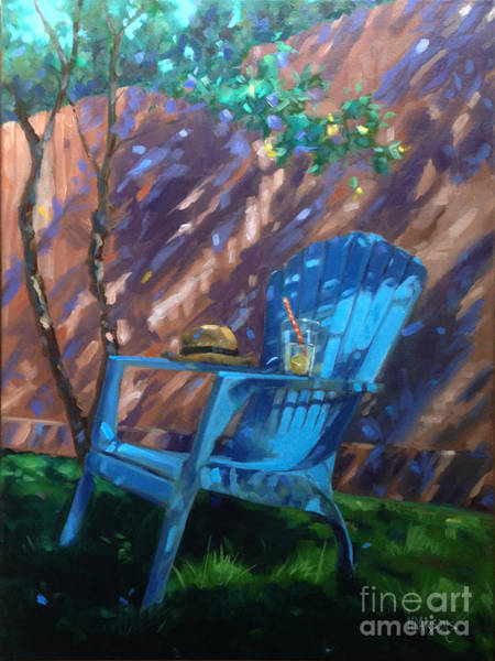 Painting - To Sit And Stare  by Nancy  Parsons