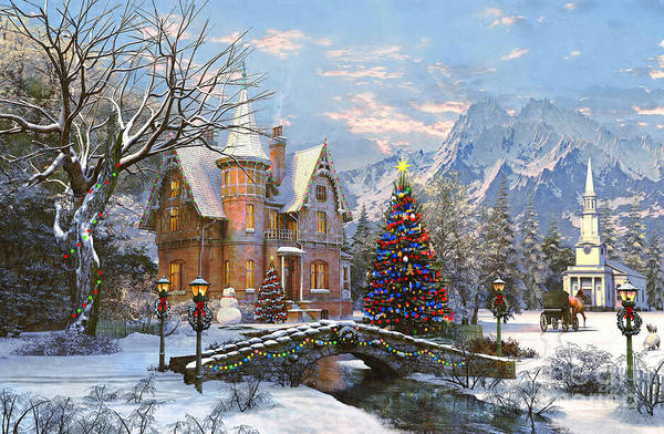 Xmas Digital Art - To The Church Best by MGL Meiklejohn Graphics Licensing