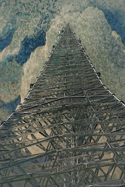 Pylon Painting - To The Clouds by Jack Zulli