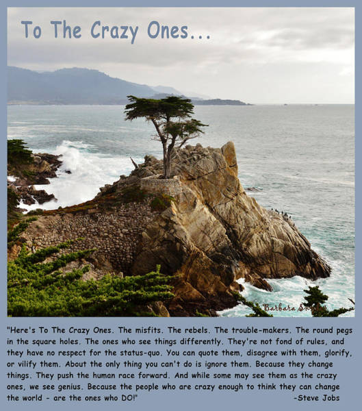 Digital Art - To The Crazy Ones by Barbara Snyder